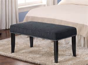 Benches For Bedroom Furniture Bedroom With Black Wooden Kingsize Bed With