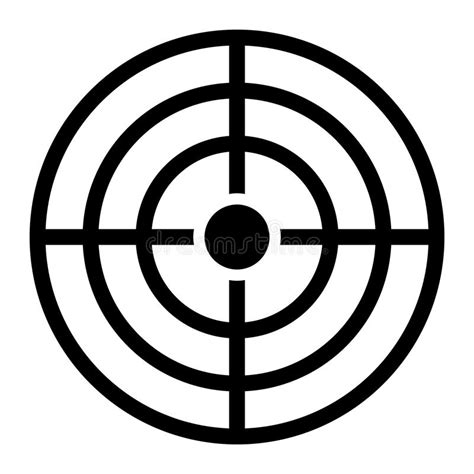 printable crosshair targets target crosshairs aim stock vector illustration of design