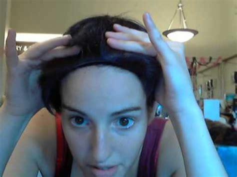 hyorin put on long hair how i put wigs over long hair youtube