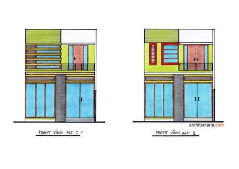 layout rumah kantor desain tak depan rumah kantor