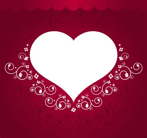 red frame  transparent heart gallery yopriceville