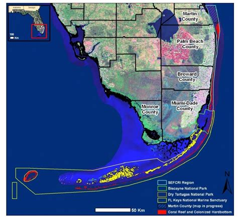 florida coral reef map florida reef tract gets the special treatment notes