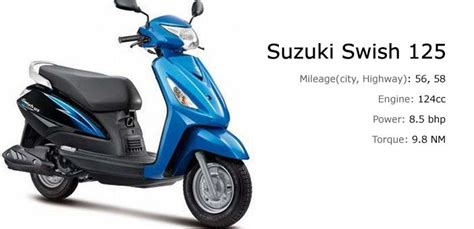 Suzuki Scooter 125cc Top 5 Fuel Efficient 125cc Scooters In India