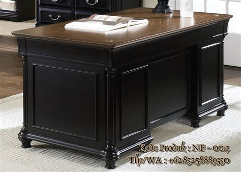 Kayu Untuk Meja meja kantor kayu jati untuk ruang pimpinan furniture