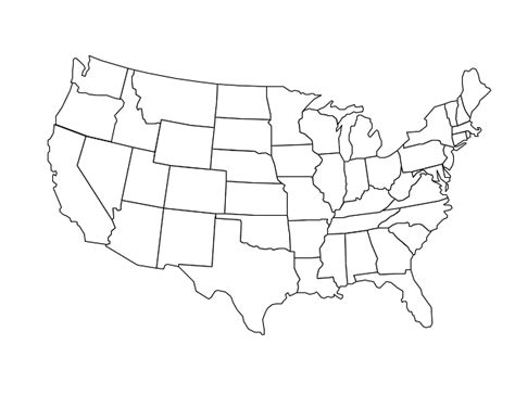 map usa states black and white united states map black and white thefreebiedepot