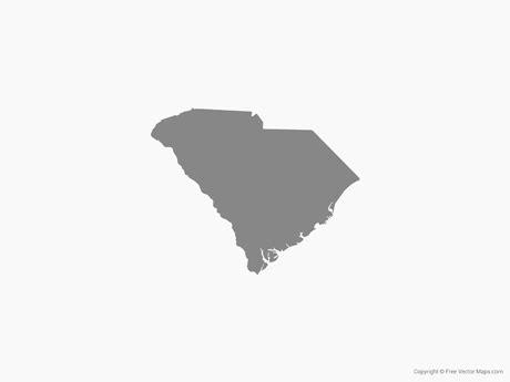 of south carolina colors vector map of south carolina single color free vector maps