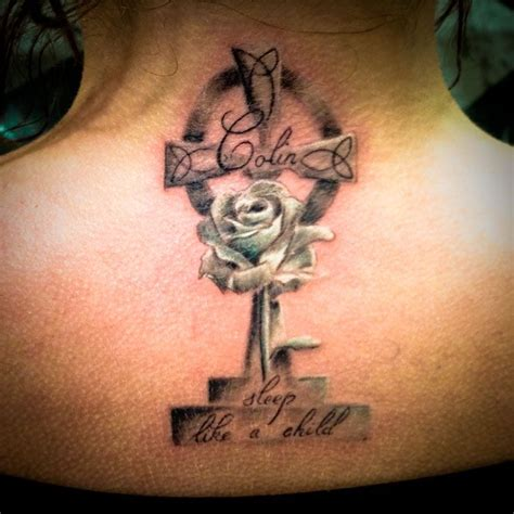 feminine celtic cross tattoos memorial tattoos for memorial celtic cross