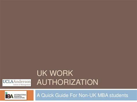 Mba Guide Uk by Uk Work Authorization