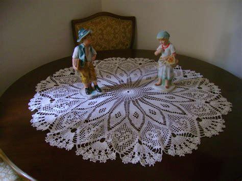 pattern tablecloths crochet on sale crochet tablecloths