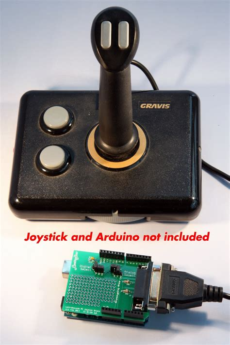 Joystick It 15 arduino joystick shield for db15 pc joysticks from lectrobox on tindie