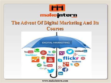 Digital Marketing Degree Course 1 by The Advent Of Digital Marketing And Its Courses