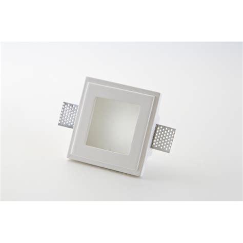 faretti per controsoffitto faretto quadrato in gesso con vetro da incasso per