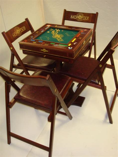 47 professional collectors ed monopoly table and 4 cha