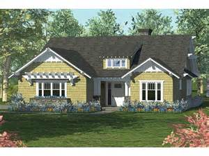 eplans craftsman house plan open plan bungalow with side