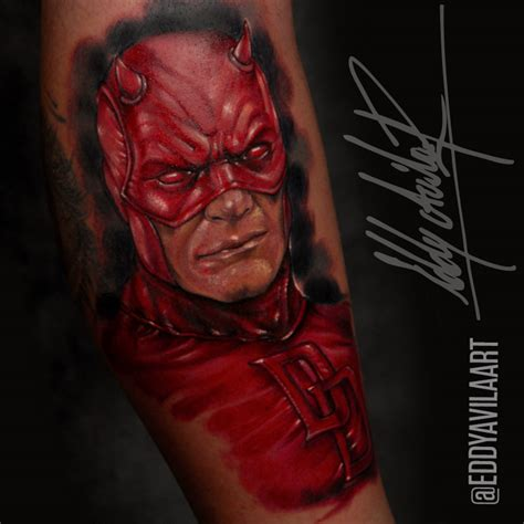 daredevil tattoo daredevil by eddy avila r on deviantart