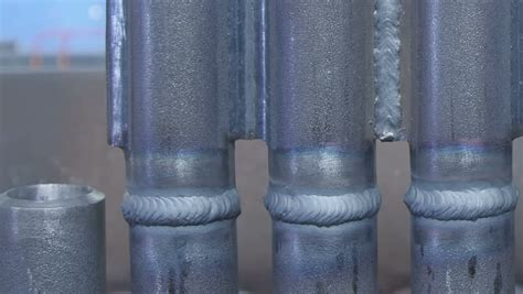 pan of weld bead made by gas tungsten arc
