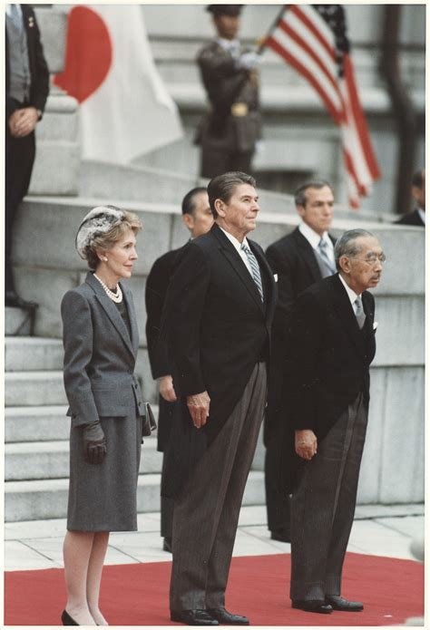 reagan s file photograph of the reagans and japanese emperor