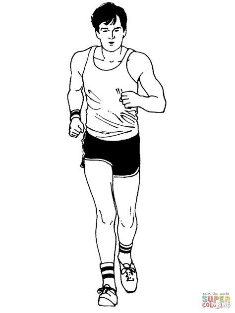 coloring pages of a person running coloriage homme au marathon coloriages 224 imprimer gratuits