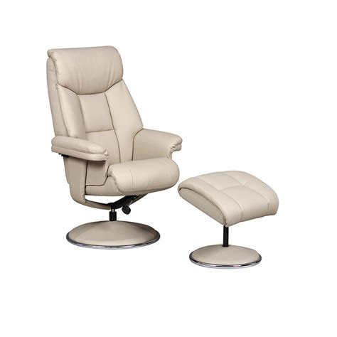 swivel recliner gfa biarritz bone plush pu leather swivel recliner