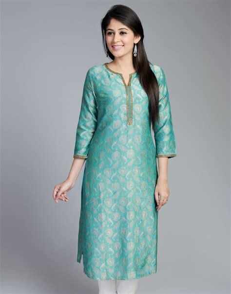 Buy Dining Room Table buy fabindia green silk brocade long kurta online