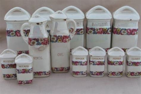 Antique Kitchen Canister Sets by Antique China Canister Set Early 1900s Vintage