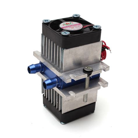 Combo 2 Diy Chiller Peltier Waterblock Water Cooling Block Fan 1 diy thermoelectric peltier refrigeration cooling system