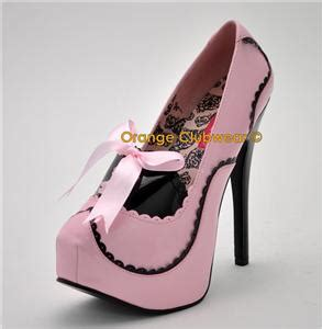 bordello teeze 01 baby pink platform high heels shoes ebay