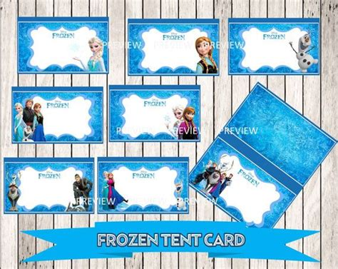 frozen tent cards templates frozen buffet food tent card label disney frozen labels