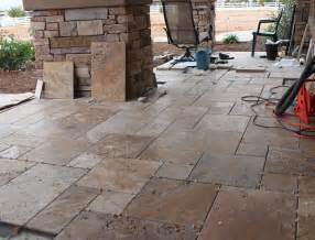 antique style versailles pattern travertine porch