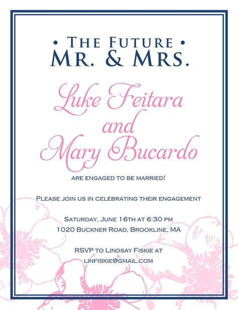 Cheap engagement party invitations : inexpensive