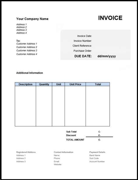 sample invoice format uk billing invoice sample