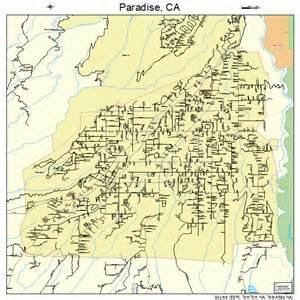 paradise california map 0655520