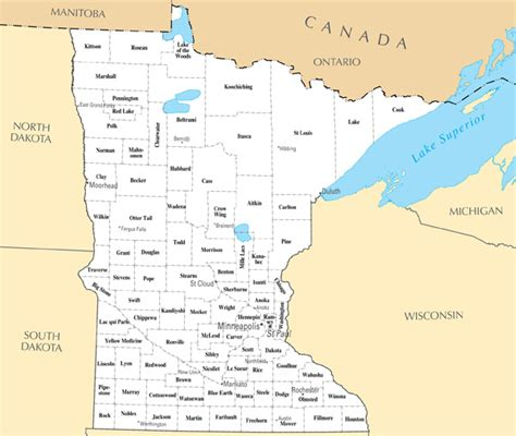state map of minnesota large administrative map of minnesota state minnesota