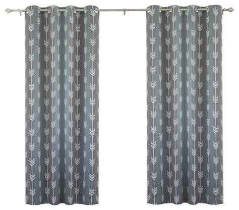 arrow curtains arrow print room darkening grommet top curtain 84 quot l 1