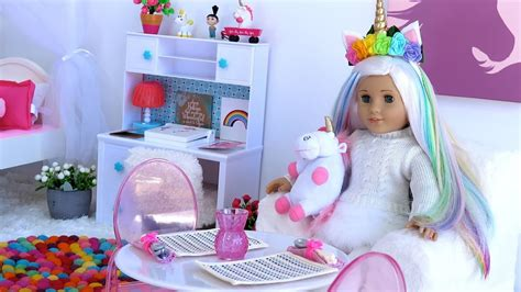 american doll bedroom american doll unicorn bedroom morning routine