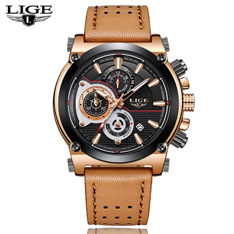 aliexpress mens watches aliexpress com buy new lige mens watches top brand