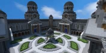 Courtyard hub 4 portals minecraft spawn building download world save