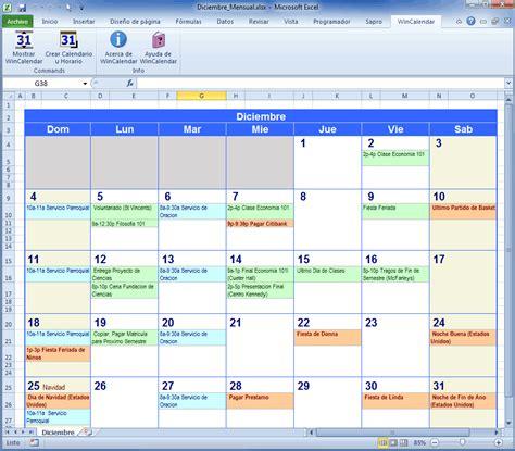 creador de calendario para word y excel