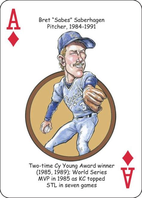 mark jackson playing card baseball playing cards for kansas city royals fans