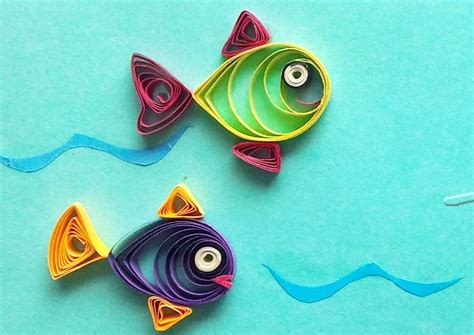 How To Make Quilling Paper - quilling made easy how to make beautiful fish design
