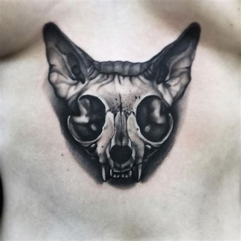 little skull tattoo designs cat skull tattoos cat skull