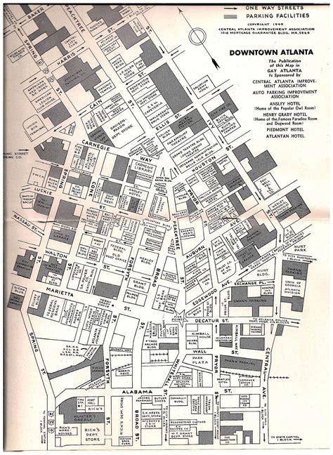 street map of downtown atlanta georgia downtown atlanta map 1949