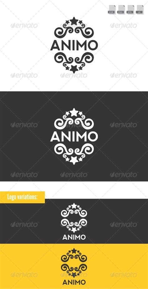 animo crest logo graphicriver