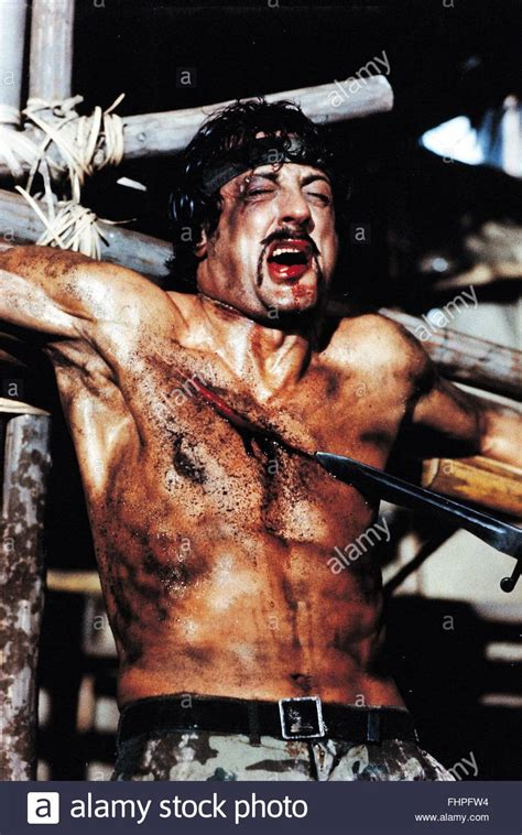 Sylvester Stallone In Rambo 4 by Sylvester Stallone Rambo Blood Part Ii 1985 Stock