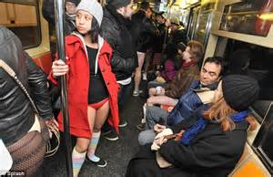 Pantless Where All The by 100 Londoners Take Part In Annual No Trousers Ride