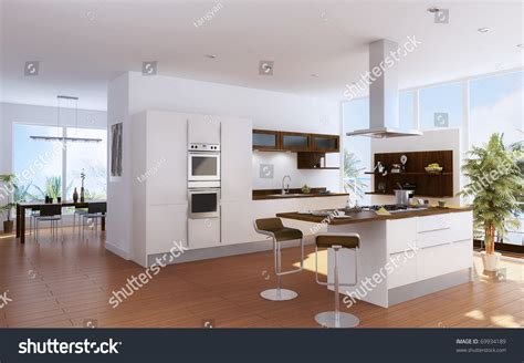 Modern Kitchen Interior Modern Kitchen Interior Design Stock Illustration 69934189