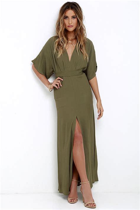 olive green maxi dress short sleeve maxi dress casual