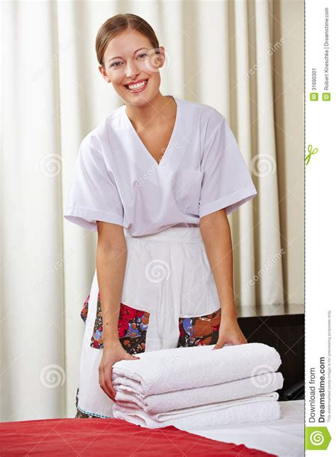 the housekeeperz portrait of a happy hotel maid stock image image 31690301