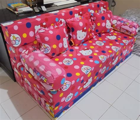 Cover Sofa Bed Inoac sofa bed inoac hello pink biru buble dtfoam