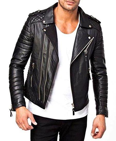 men s moto jacket men s moto style lambskin quilted biker leather jacket